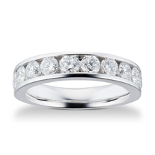 18ct White Gold 1.50ct Brilliant Cut 10 Stone 88 Facet Diamond Eternity Ring