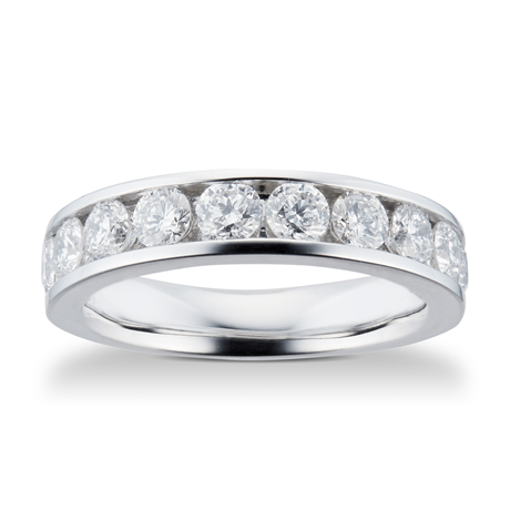 18ct White Gold 1.50ct Brilliant Cut Goldsmiths Brightest Diamond Eternity Ring