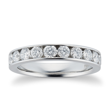 Platinum 1.00ct Brilliant Cut 10 Stone 88 Facet Diamond Eternity Ring