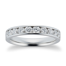 Platinum 0.75ct Brilliant Cut 10 Stone 88 Facet Diamond Eternity Ring