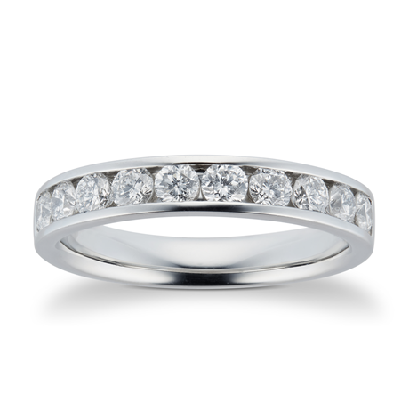 Platinum 0.75ct Brilliant Cut Goldsmiths Brightest Diamond Eternity Ring