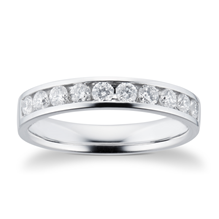 Platinum 0.50ct Brilliant Cut Goldsmiths Brightest Diamond Eternity Ring - M06506095