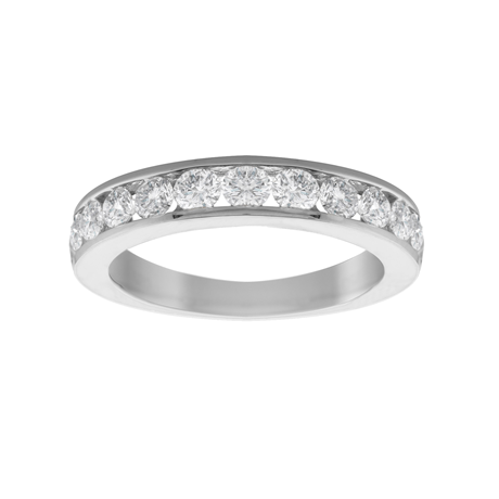 18ct White Gold 1.00ct Diamond 13 Stone Eternity Ring