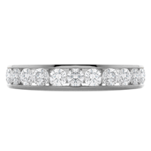 Platinum 1.00ct Diamond 13 Stone Eternity Ring