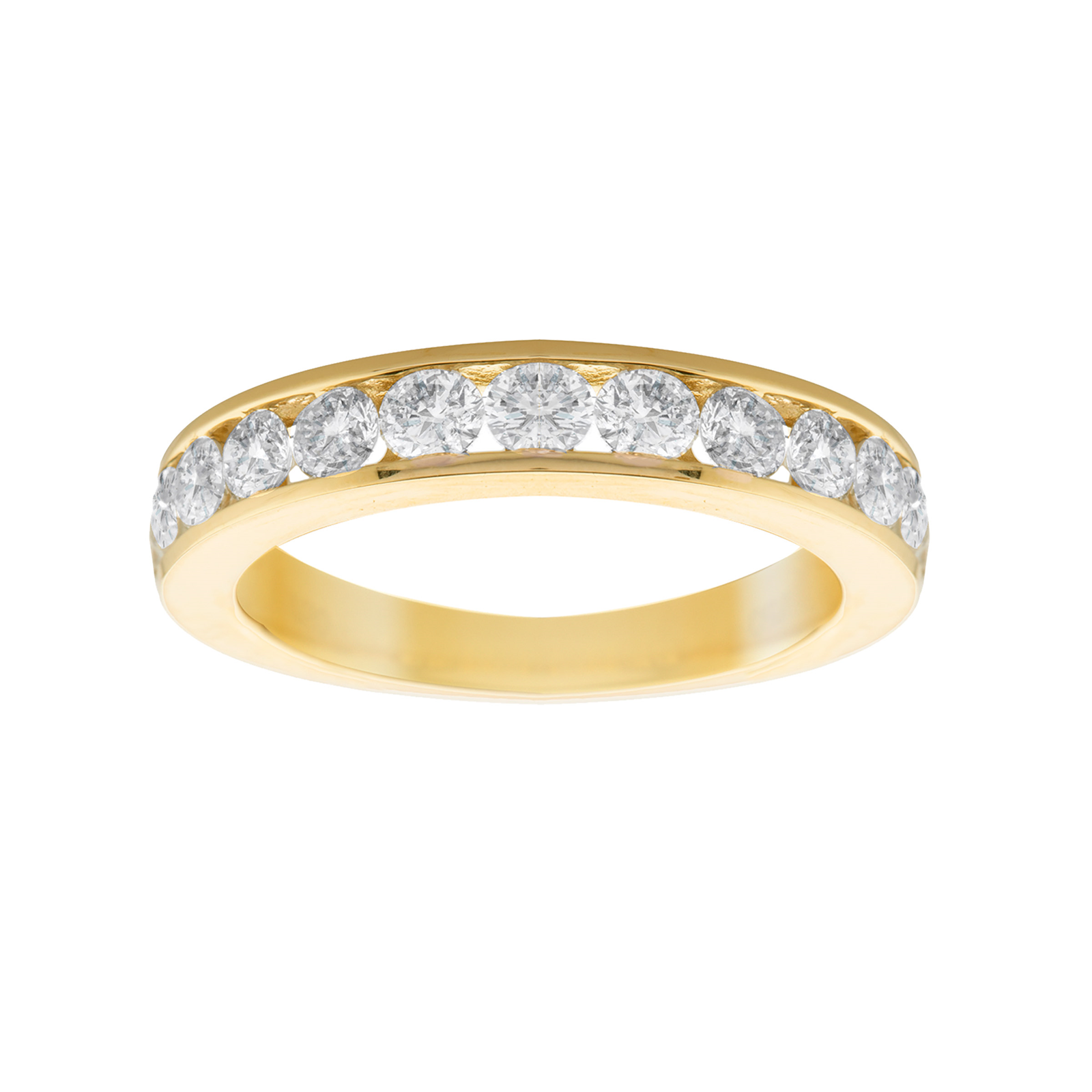 18ct Yellow Gold 1.00ct Diamond 13 Stone Eternity Ring - Ring Size L