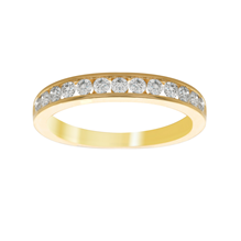 18ct Yellow Gold 0.50ct Diamond 13 Stone Eternity Ring