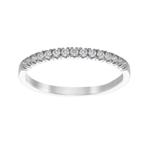 9ct White Gold 0.20ct Diamond 15 Stone Stacking Ring
