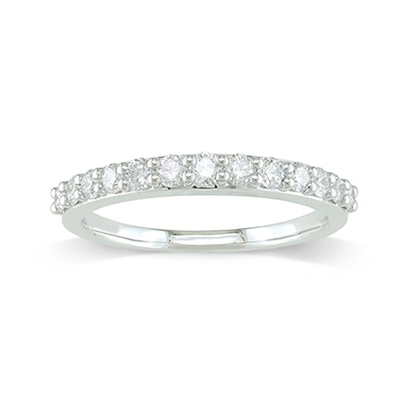 18ct White Gold 0.50 Carat Brilliant Cut Half Eternity Ring