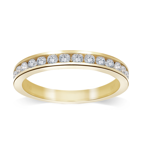 18ct Yellow Gold 0.50 Carat Brilliant Cut Half Eternity