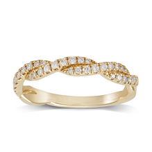 18ct Yellow Gold 0.30ct Round Brilliant Cut Twist Half Eternity Ring