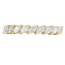 18ct Yellow Gold 0.66ct Claw Set Marquise Half Eternity Ring