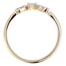 9ct Yellow Gold Claw Set 0.15cttw Scatter Ring