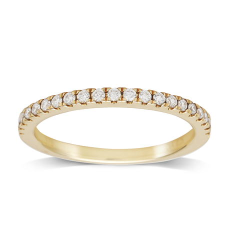 9ct Yellow Gold 0.25cttw Diamond Stacker Ring