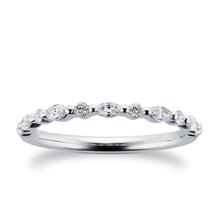 9ct White Gold 0.33cttw Diamond Round & Marquise Cut Band Eternity Ring