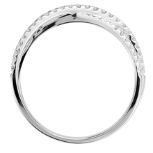 9ct White Gold 0.25cttw Thin Cross Over Ring