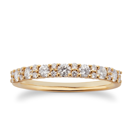 9ct Yellow Gold 0.50ct Cluster Eternity Rings