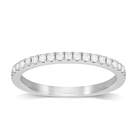 Platinum 0.25ct Diamond Stacker Ring