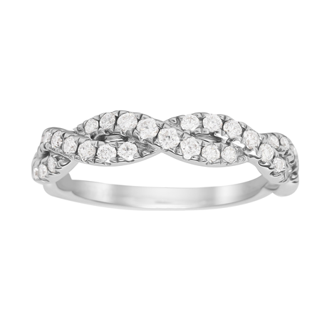 18ct White Gold 0.50cttw Diamond Twist Eternity Rings