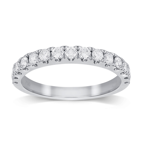 Platinum 0.75cttw Diamond Claw Set Eternity Ring