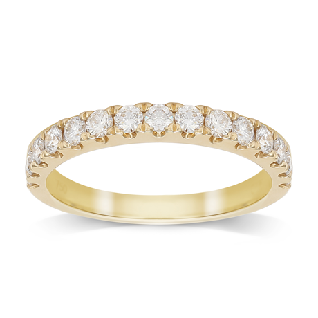 18ct Yellow Gold 0.75cttw Diamond Claw Set Eternity Ring