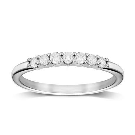 9ct White Gold 0.25cttw Diamond Stacker Style Eternity Ring