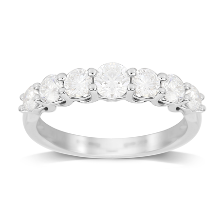 18ct White Gold Claw Set 1.00cttw Graduated Eternity Ring