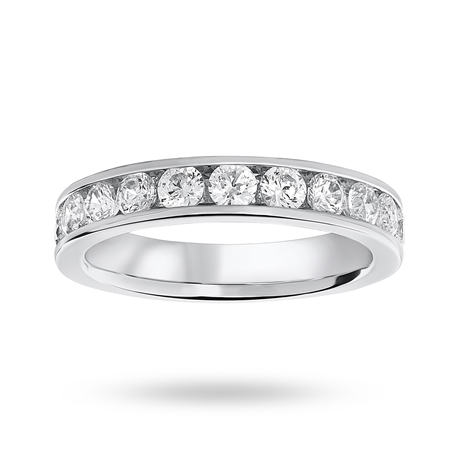 18ct White Gold 1.00ct Half Eternity Ring