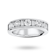 18ct White Gold 1.45ct Dot Dash Half Eternity Ring
