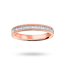 18ct Rose Gold 0.33ct Baguette Cut Half Eternity Ring