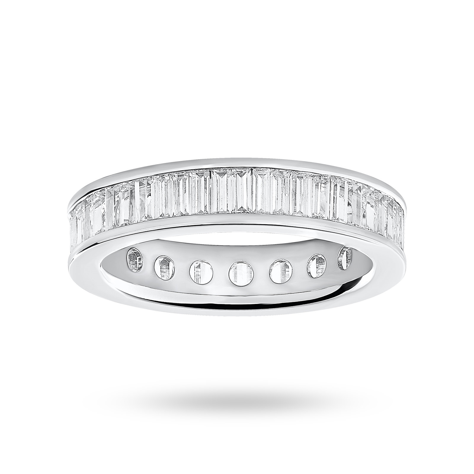 18ct White Gold 2.00ct Baguette Cut Full Eternity Ring - Ring Size K