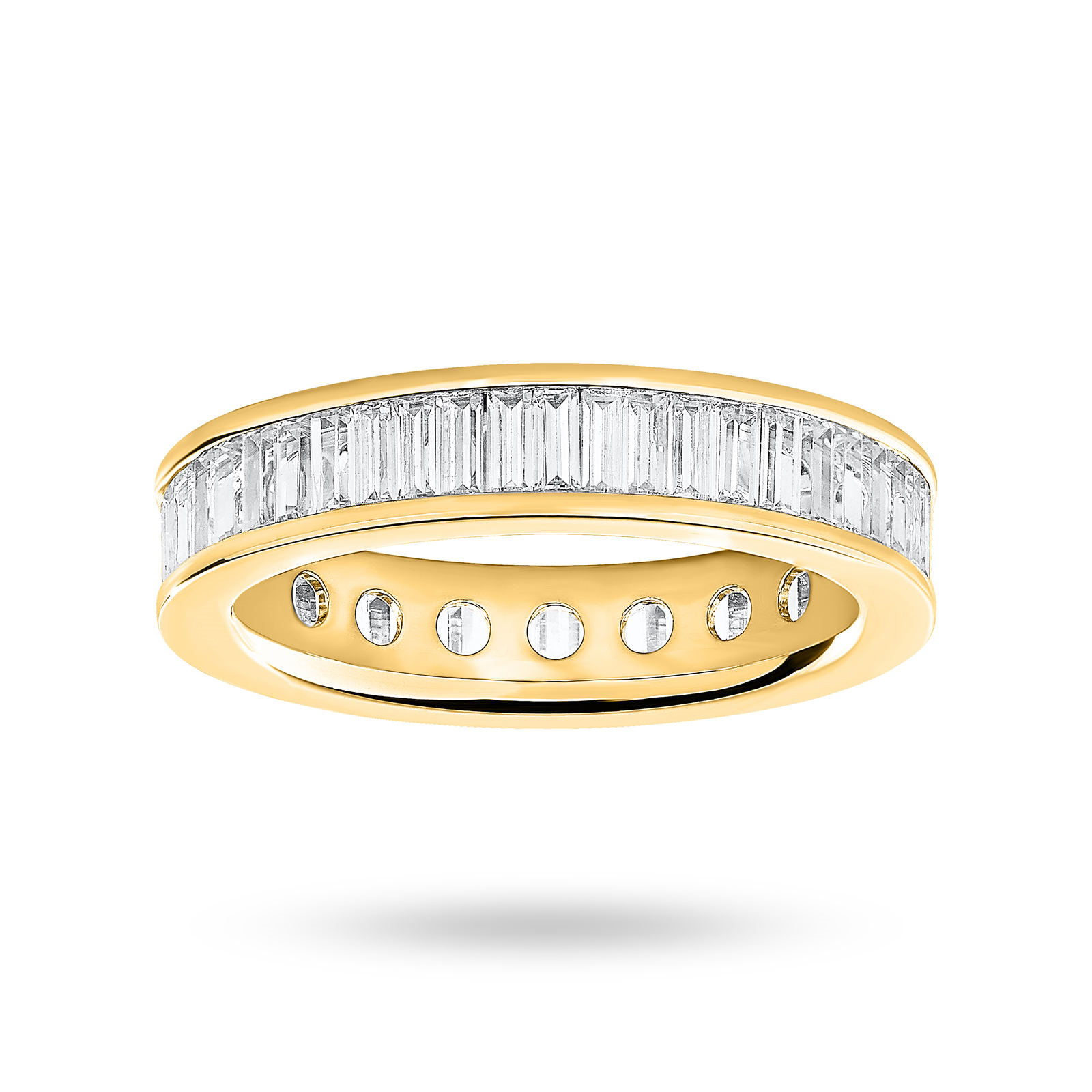 9ct Yellow Gold 2.00ct Baguette Cut Full Eternity Ring - Ring Size N