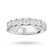 18ct White Gold 2.10ct Brilliant Cut Half Eternity