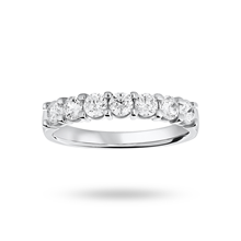 18ct White Gold 0.75ct Brilliant Cut Half Eternity Ring