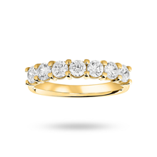 9ct Yellow Gold 1.00ct Brilliant Cut Half Eternity Ring