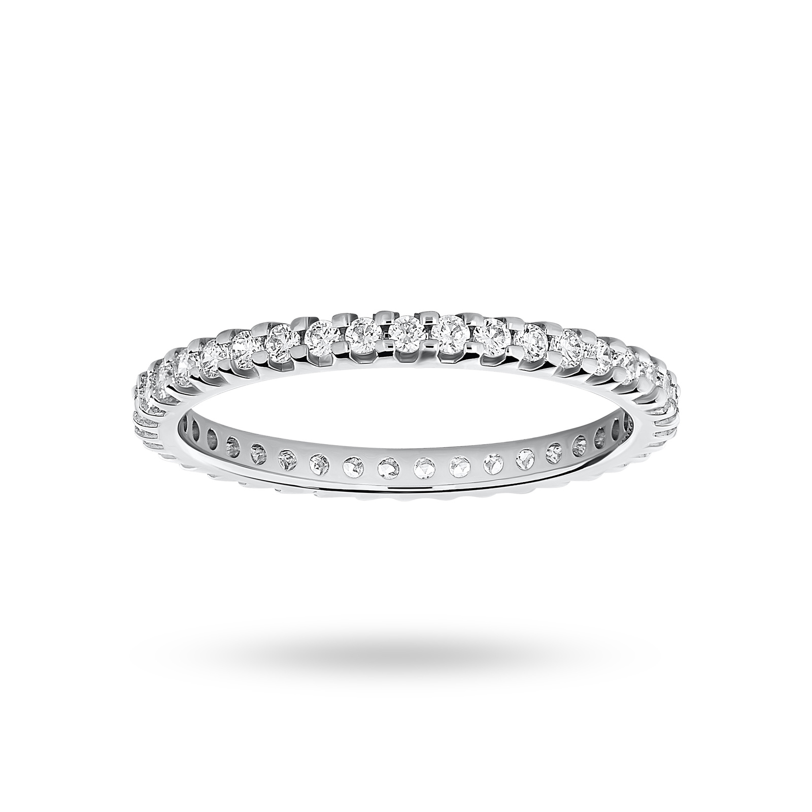 9ct White Gold 0.50ct Brilliant Cut Full Eternity Ring - Ring Size J