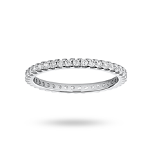 9ct White Gold 0.50ct Brilliant Cut Full Eternity Ring