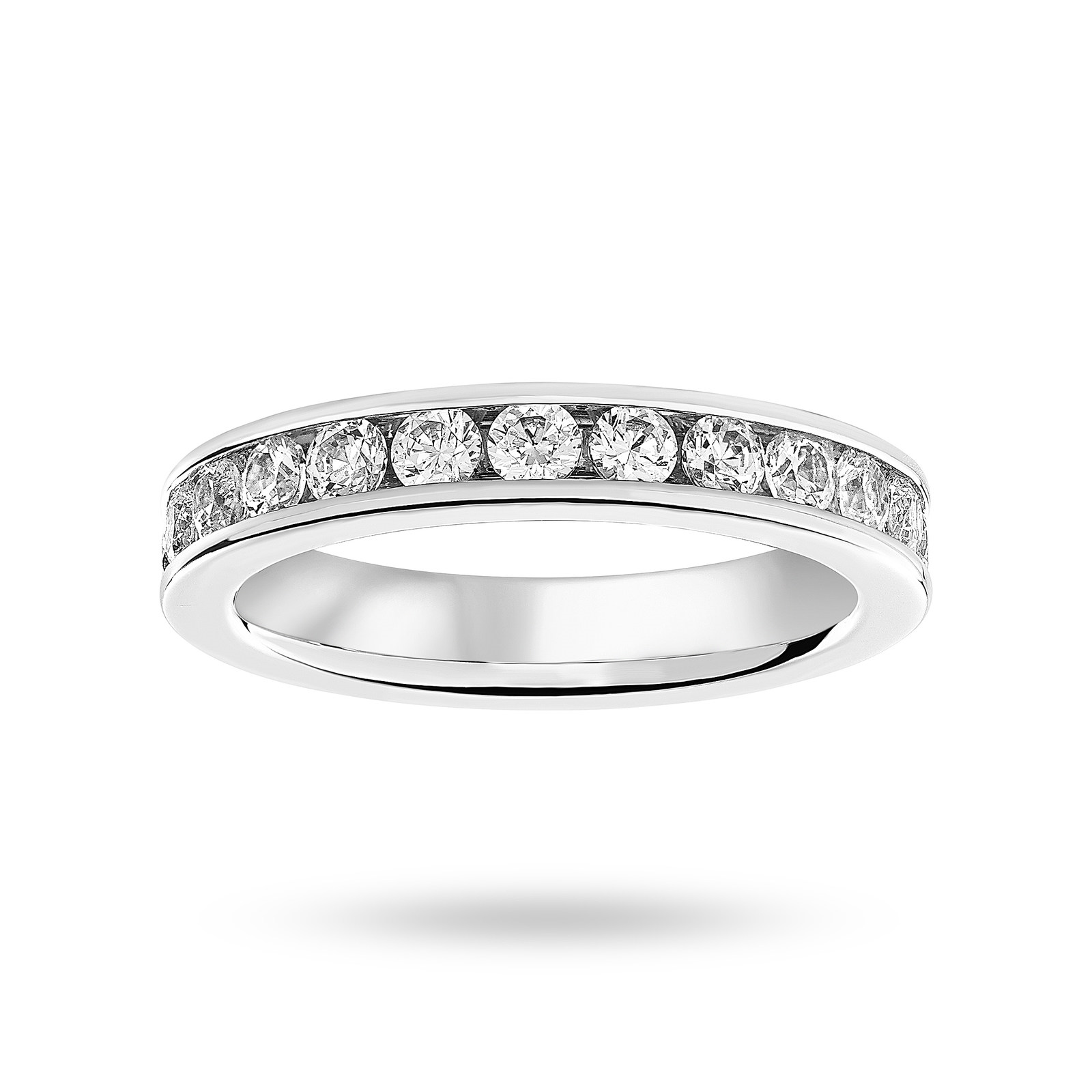 18ct White Gold 1.50ct Brilliant Cut Full Eternity Ring - Ring Size I