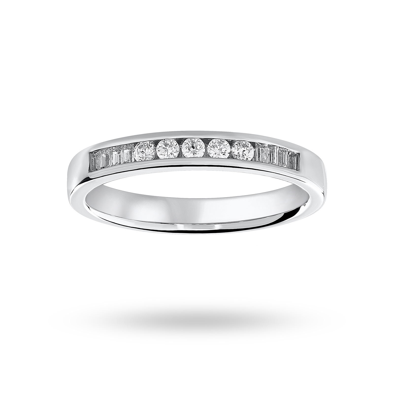 18ct White Gold 0.20ct Half Eternity Ring - Ring Size K