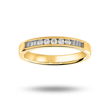 18ct Yellow Gold 0.20ct Half Eternity Ring
