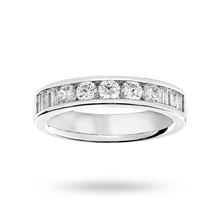 18ct White Gold 0.75ct Half Eternity Ring