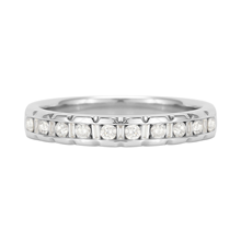 18 Carat White Gold 0.20 Carat Dot Dash Half Eternity Ring