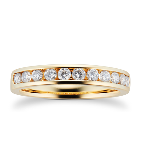 18ct Yellow Gold 0.50cttw Brilliant Cut Diamond Eternity Ring