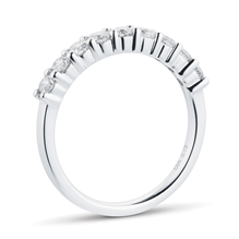 Platinum 0.75cttw Brilliant Cut Claw Set Half Eternity Ring