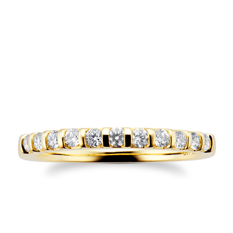 18ct Yellow Gold 0.30cttw Diamond Stacker Ring