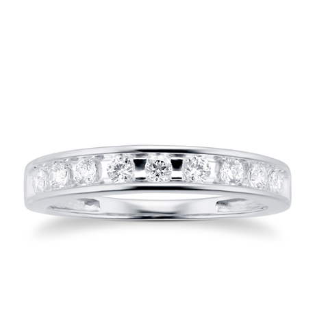 18ct White Gold 0.30cttw Diamond Channel Set Eternity Ring