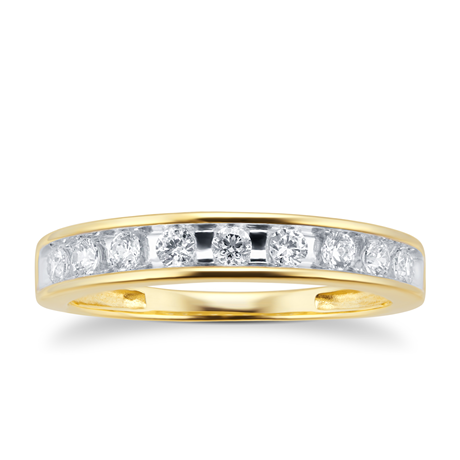 18ct Yellow Gold 0.30cttw Diamond Channel Set Eternity Ring