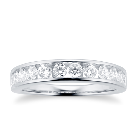 18ct White Gold 0.70cttw Diamond Channel Set Eternity Ring