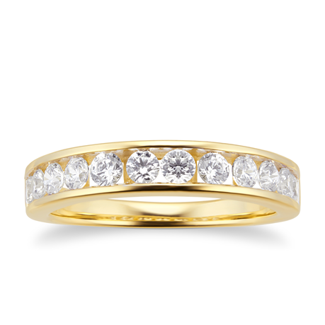 18ct Yellow Gold 0.70cttw Diamond Channel Set Eternity Ring