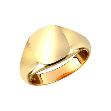 18ct Yellow Gold Square Plain Signet Ring