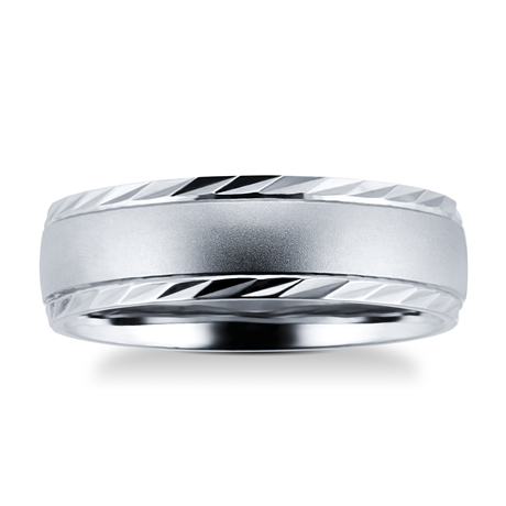Palladium 500 6mm Fancy Gents Ring